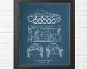 World War Two German Panzer II Ausf C Tank Blueprint Reproduction - Varying Sizes