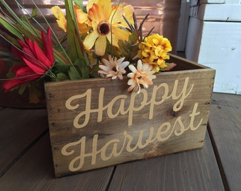 Happy Harvest - Fall Rustic Bin