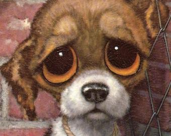 Gig Pity Puppy vintage print Sad Big Eyes