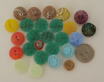 Large lot of Antique Vintage Buttons MOP Glass Metal