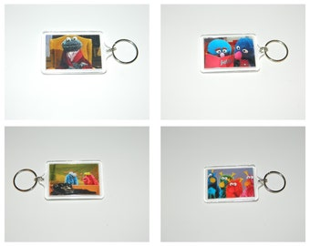 Sesame Street Keychain Honkers Yip Yips Cookie Monster Grover Classic Sesame Street Choice of Images