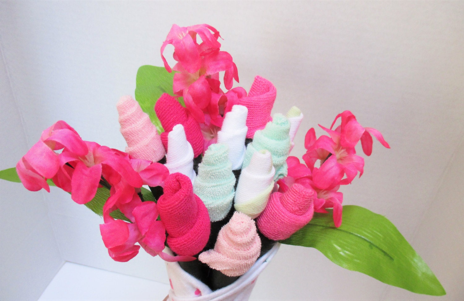 Baby sock rose Bouquet baby shower t mother to be baby