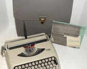 ON SALE Vintage 1960s Royal Royalite 64 Portable Manual Typewriter, Case & Manual Serviced with New Ribbon!