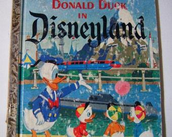"1960 First Edition ""Donald Duck In Disneyland"" Little Golden Book Illustrated By Walt Disney Studios"