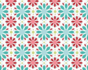 "Riley Blake Designs ""Apple of My Eye"" by The Quilted Fish - Petals Red - 1/2 yard"