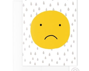 Smiley Sad Greeting Card