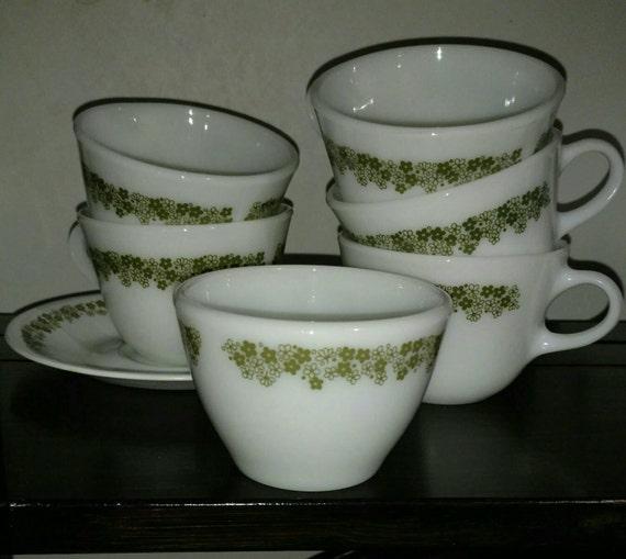 Vintage Corelle cups sugar bowl saucers excellent condition replace your missing pieces