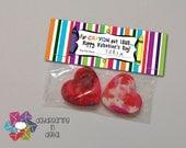 INSTANT DOWNLOAD -Digital File - Crayon Valentine Treat Bag Topper- Printable