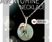 Green Aventurine Pendant- Pendant Necklace- Stone Necklace
