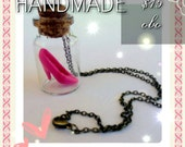 Barbie Necklace- Glass Vial Necklace- Barbie