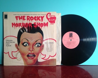 The ROCKY HORROR Show Original Australian Cast Album Soundtrack Vinyl Record LP 1975 In Shrink Near Mint Condition Vintage