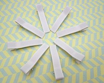 Sale--10 pcs girl hair clips - satin hair clips - girl barrettes