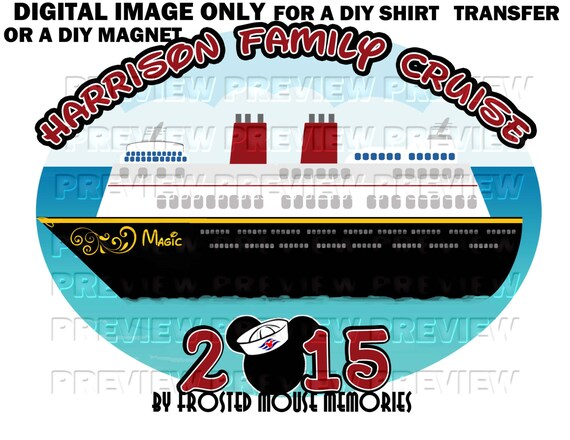 Disney cruise printable magnet joy studio design gallery for Diy disney shirt template