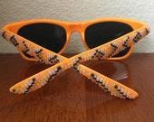 Native American Handbeaded Oragne Frame Sunglasses
