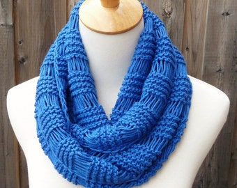 All Year Round Infinity Scarf - Blue Infinity Scarf - Cotton Infinity Scarf - Circle Scarf - Ready to Ship
