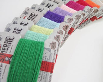 Wool Embroidery Floss | 12 color Laine St. Pierre French Wool Embroidery Thread Set for Hand Embroidery, Darning (Modern Colors - Asst 2)
