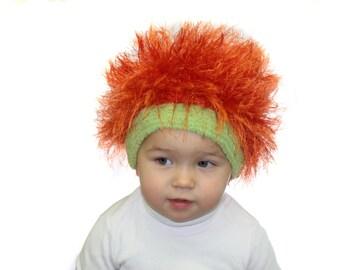 Baby hats / Cabbage Patch Kids Hat  / Beanie Wig  / Children  fuzzy hat  / Baby costume / Halloween Costume / Pumpkin
