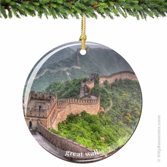 Christmas Ornaments In China : Great wall of china christmas ornament in by citysouvenirs
