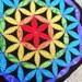 Chkara Rainbow Flower of Life Patchwork Patch Crystal Meditation Grid