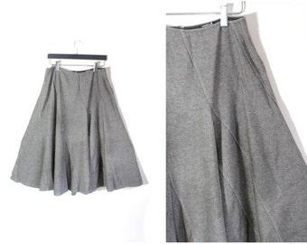 Full Skirt Circle Skirt A Line Skirt Wool Skirt Midi Skirt Lagenlook Clothing Lagenlook Skirt Avant Garde Clothing Full Circle Skirt L Large
