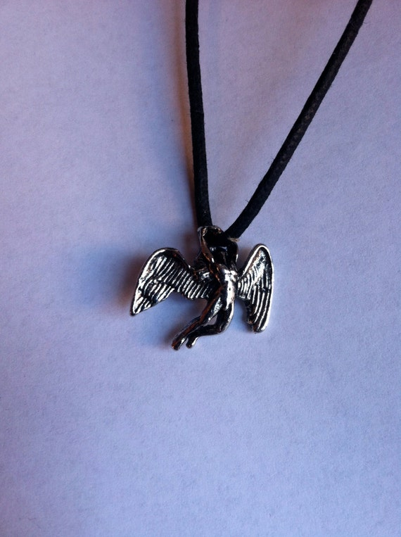 vintage led zeppelin necklace icarus pewter pendant deadstock
