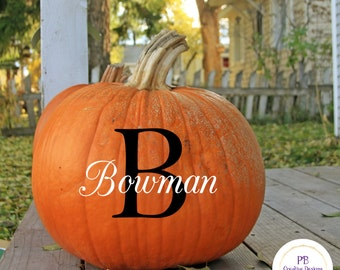 Personalized vinyl for Pumpkins / DIY Decal / Car Decal / Tumbler Decal