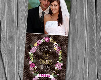 50, 100 or 150 Photo Bookmarks, Great Wedding Party Favors & Keepsake for your guests