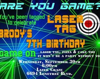 Laser Tag Birthday Invitation