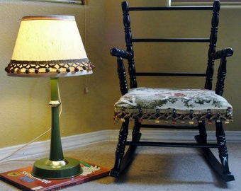 Childs Rocking Chair and Matching Lamp Nursery Room Decor