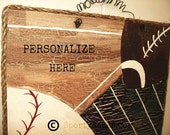 Sports Sign Combination Sport Theme Football Baseball Sign Handpainted Personalization Kids Room Decor Rustic Man Cave Teens Room Athletic