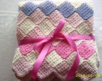 Hand-Crocheted Baby Blanket - Cotton Tots Yarn