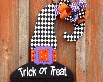 Witch Hat Door Hanger Halloween Door Hanger Halloween Decorations Trick Or Treat