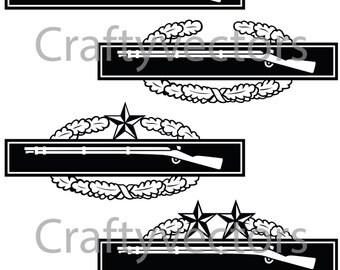 Infantryman Combat Badge Vector File SVG