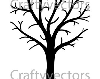 Tree with bare branches vector file, SVG.
