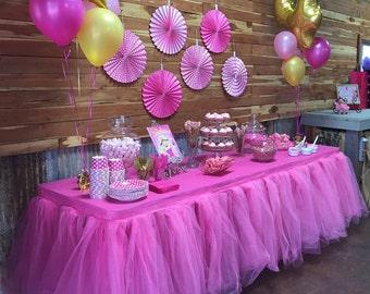 Tutu Table Skirt, Tulle tableskirt, Custom Made, Wedding, Birthday, Baby Shower