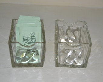 One Vintage Glass Sugar Packet Holder
