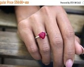25% OFF SALE - white gold ruby ring,solid white gold ring,ruby jewelry,July ring,birthstone ring,wedding ring,bridal ring
