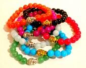 Jade Buddha Bracelet. Buddha Bracelets. Beaded Bracelet. Yoga Bracelet. Mala Bracelet. Buddha Jewelry. Yoga Jewelry.
