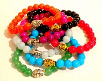 Yoga Bracelet. Buddha Bracelet. Jade Bracelet. Mala Bracelet. Healing Bracelet. Bracelet. Buddha Jewelry.