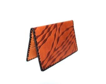 Mens leather wallet Soviet vintage UNUSED wallet Light brown mens wallet Large vintage wallet Genune leather wallet