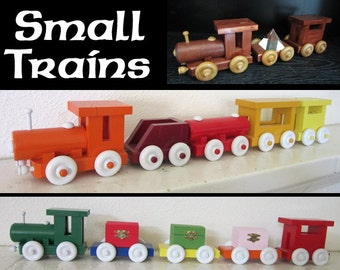Upcycled Scrap Wood Trains