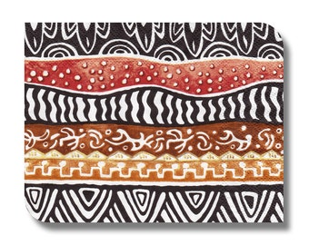 Paper napkin for decoupage, mixed media, collage, scrapbooking x 1. Tribal Stripes. No 1234