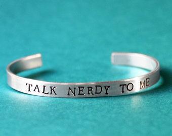 Talk Nerdy To Me Bracelet, Geek Jewelry, Fandom Jewelry, Nerd Bracelet, Smart Kids, Science Geek, History Nerd, Fangirls, Scientist Gift