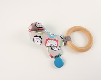 Retro Clocks pacifier clip