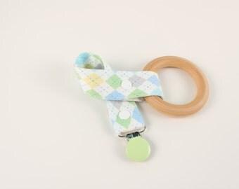Pastel Diamond pacifier clip