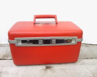 Red Samsonite Train Case