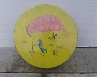 Vintage Circus Tin Container