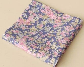 Mens floral pocket square - Liberty pocket square - Tatum blue pocket square
