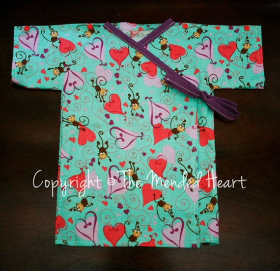 Girl snap shoulder 6 12 month hospital gown baby girl hospital outfit