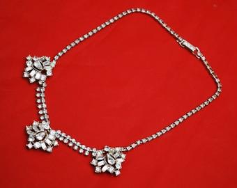 Garne Rhinestone Bib Necklace Wedding Bride Bling Necklace